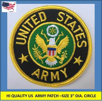 """USAF EMBLEM Embroidered Patches 3/"""" Premium Quality Sew On Iron On Patch"""