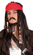 Perruque Homme PIRATE des Caraibes Déguisement Adulte Costume