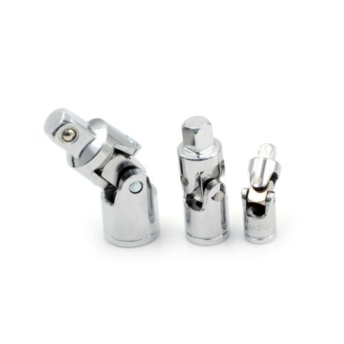"""Universal Joint Set 4 Square Drive Ratchet Sockets Adapters 1//4/"""" 3//8/"""" 1 CHP"""