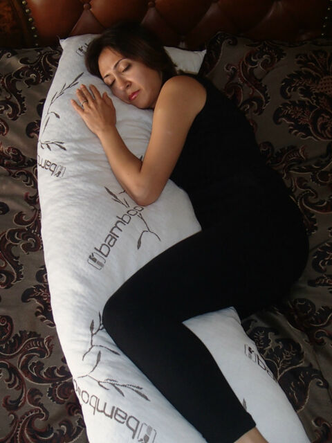 Bamboo Cover Shredded Memory Foam Full Body Pillow,100% Washable,USA Made New