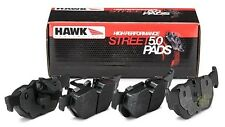 Hawk Street 5.0 Brake Pads (Front & Rear Set) for 98-02 Honda Accord 4Cyl