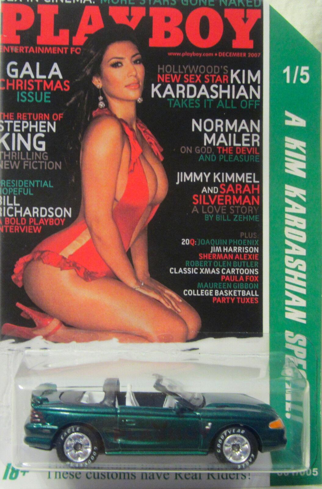 Matchbox Personnalisé Mustang Cobra Playboy Kim Kardashian Real Riders 1 5