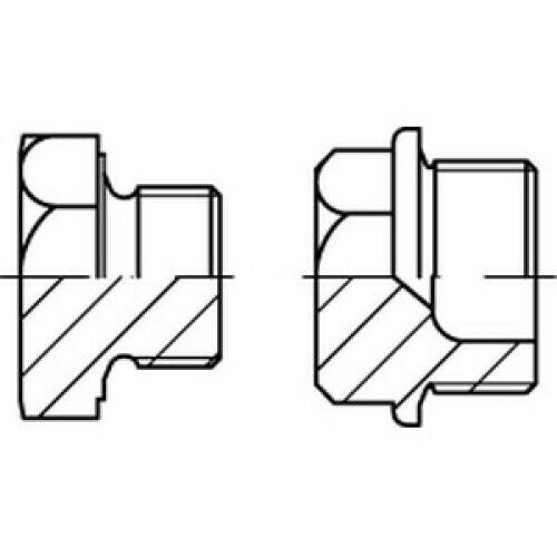 Verschlussschrauben mit Bund DIN 7604 A 4 A M 22 x 1,5 A 4 VES