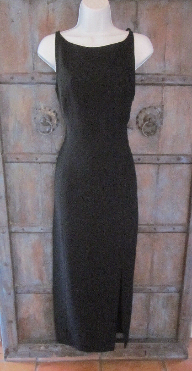 Tahari Classics damen Long schwarz Evening Dress Größe 10 Formal Gown Slim Sheath