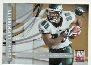 2009-Donruss-Elite-Zoning-Commission-Gold-Football-Card-15-Reggie-Brown-653-899
