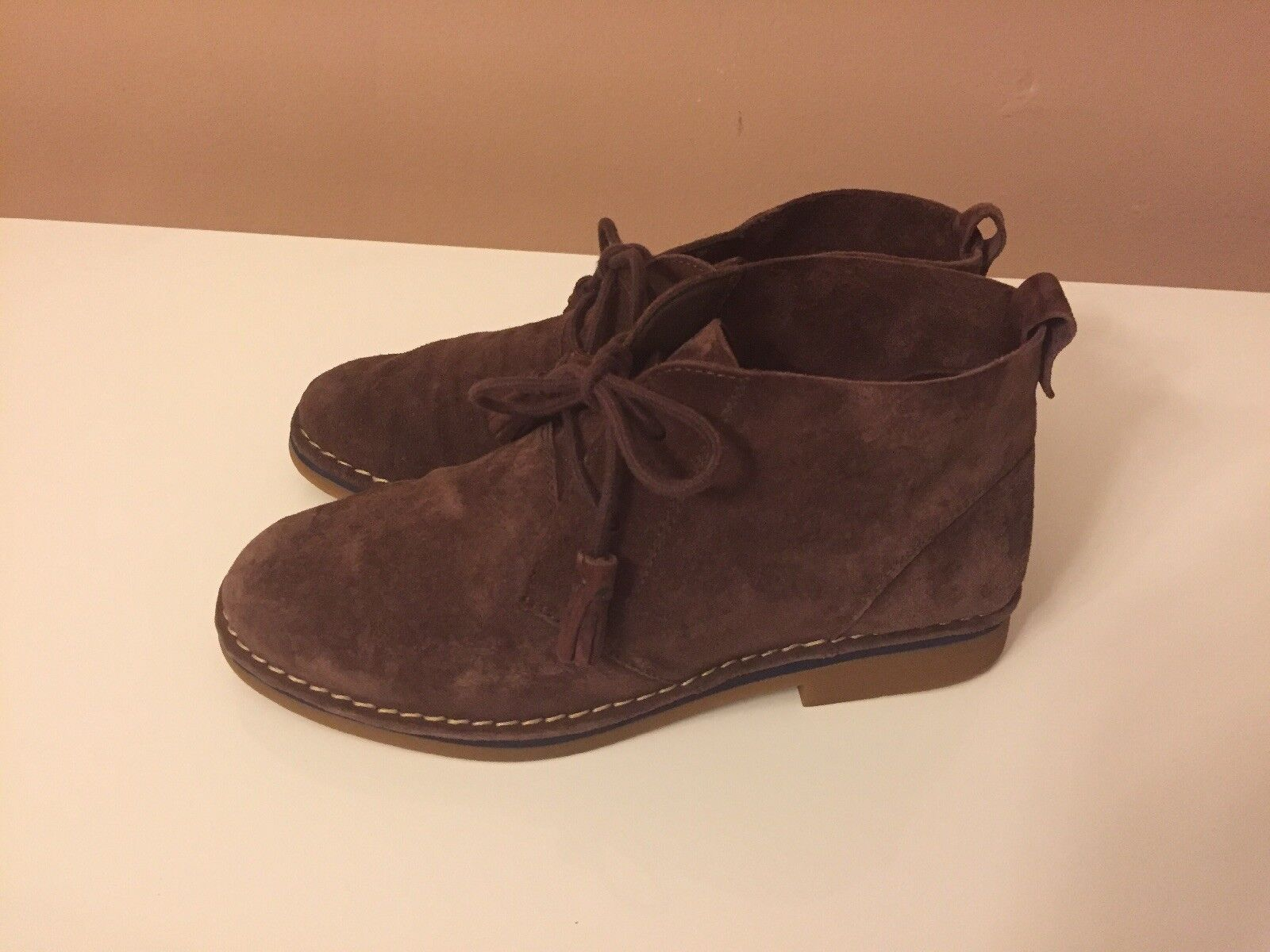 Hush Puppies Women's Boots Cyra Brown Suede Ankle High Size 7.5 M New