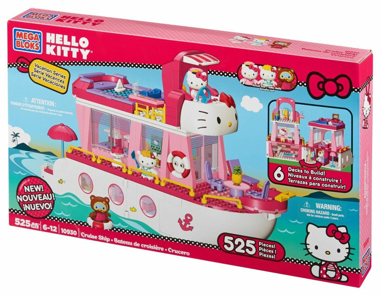 Mega Bloks Hello Kitty Vacation Series - Cruise Ship 525Pcs - 10930