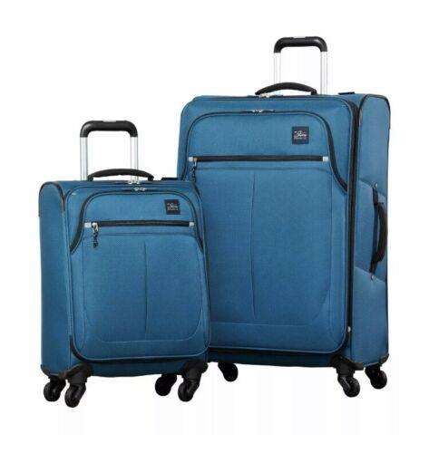 Vacances Bagages nouveau Bleu Ricardo Olympique 2 Pièce Softside Valise Lot