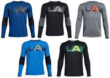 UNDER ARMOUR UA BOYS 8-20 S M L XL TECH LONG SLEEVE TEE BLACK GRAY BLUE NEW NWT