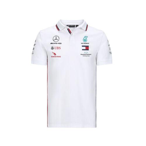 White Mens Fanatics Mercedes AMG Petronas 2020 Team Polo