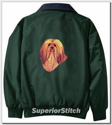 LHASA APSO embroidered Challenger jacket ANY COLOR B