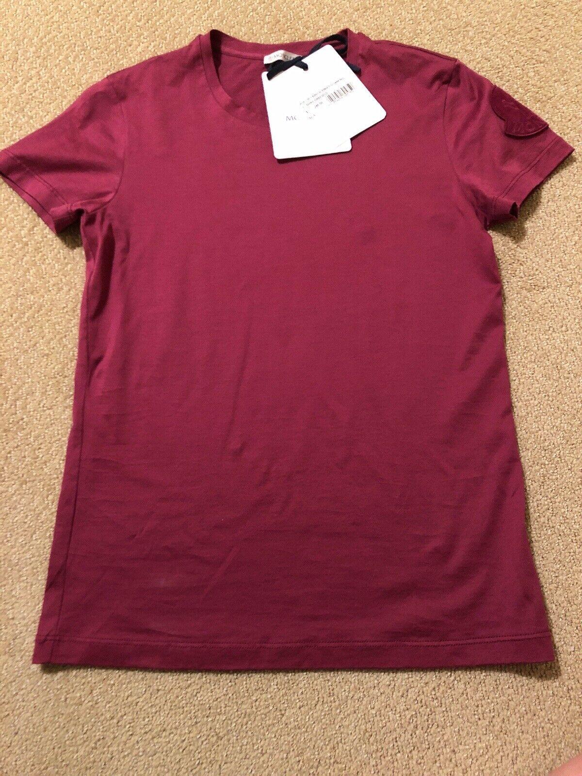 NEW  100% Authentic MONCLER Woherren Cotton Top T-Shirt, Größe S