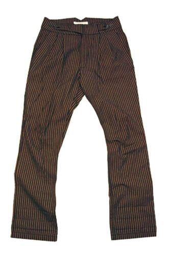 Gamba Confederazione Pantaloni Alto Dritta Tela Con Zebrato Chino a0CqE