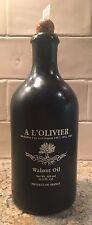 """VINTAGE - Stoneware Bottle Olive / Oil Dispenser """"A L'Olivier"""", France - GREEN"""