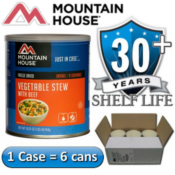 6 Cans Case - Mountain House Vegetable Beef Stew Case - Freeze Dried Food