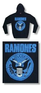 The-Ramones-Jumbo-Blue-Seal-Hooded-Fleece-Hoodie-Large-Brand-New