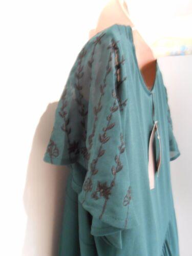 Per Una Premium M/&S Green Sequin Party wedding Tunic Top UK Size 12 or 20 NEW