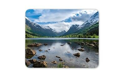 Beautiful Norway Landscape Mouse Mat Pad Mountain Lake Fun Gift Computer #8914