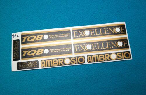 AMBROSIO EXCELLENCE TEAM EDITION RIM DECALSET GOLD//BLACK 28 32 36 HOLE  COLNAGO