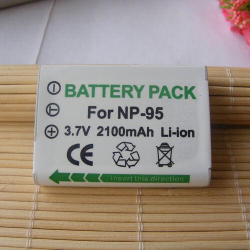 Batería NP-95 NP95 /& Home Real Fuji X100 3D Cargador de COCHE para FUJI FinePix W1