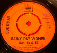 "Bob Dylan Rainy Day Women Nos.12 & 35 7"" UK ORIG 1966 CBS Pledging My Time VINYL"