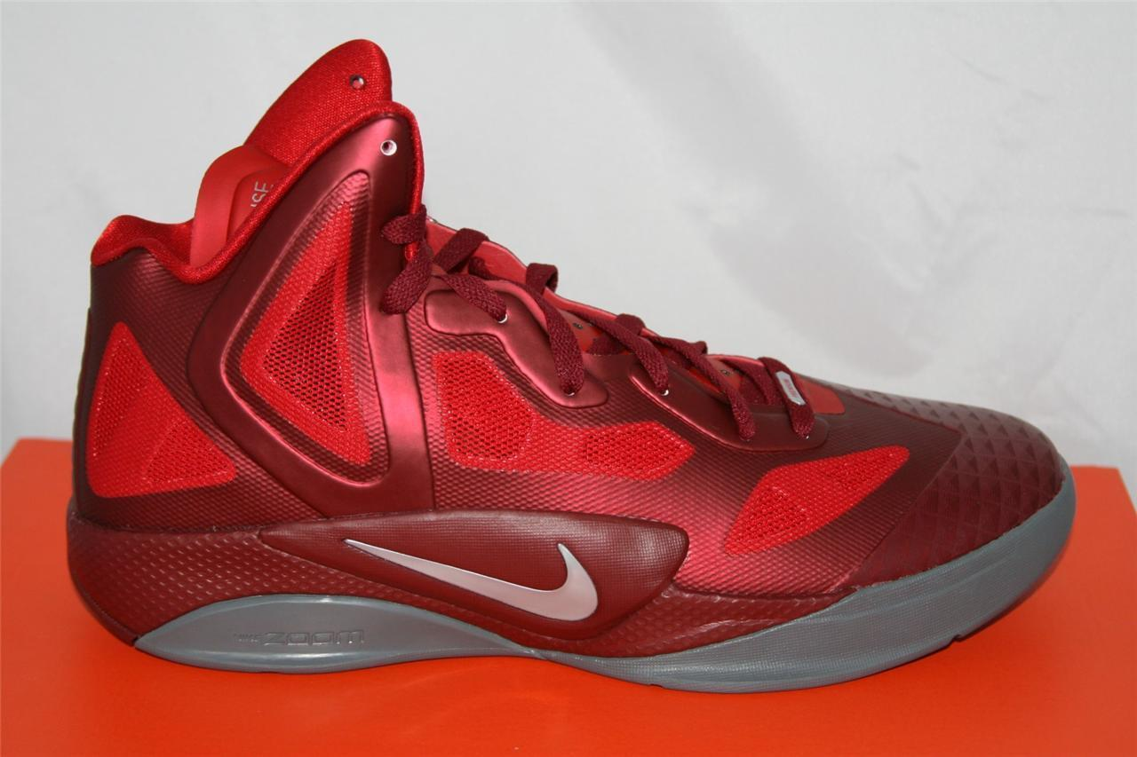 NEW MENS NIKE ZOOM HYPERFUSE 2011 SUPREME BASKETBALL SHOE SIZE 11 RED