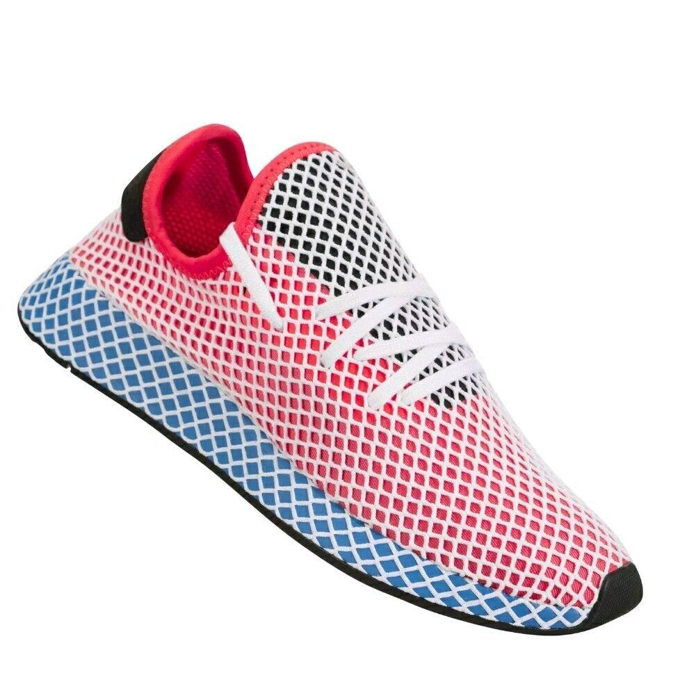 Adidas Mens Originals Deerupt Runner Solar SZ 10.5Red bluee Bird CQ26