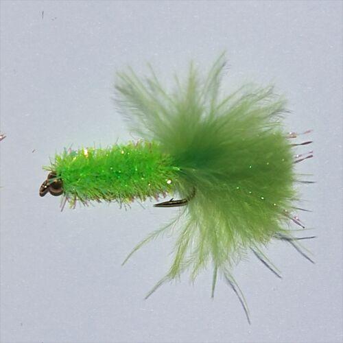 Gold tête Fritz Truite Pêche à la mouche mouches Leurres banderoles taille 10 par libellules