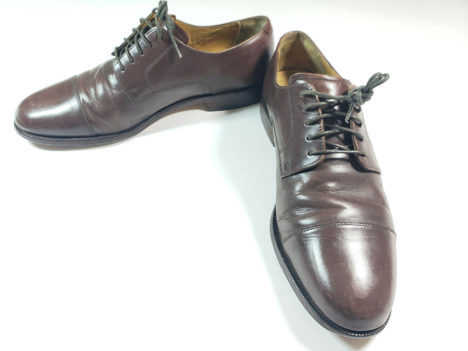 Cole Haan Mens shoes Cassady Cap Toe Derby Oxford Dress Brown C07992 Size 10.5