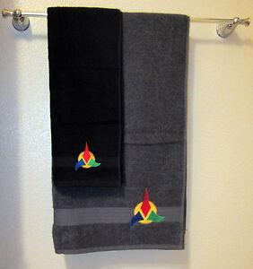 Star Trek Hand Bath Towel Set Klingon EBay