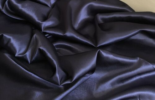 """1 X Meter Navy Blue Satin Fabric Bridal Dress Evening dance prom Gown58"""" Wide"""