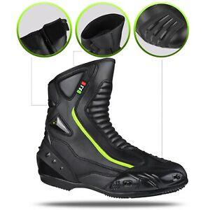 Scarpa-Scarpetta-Stivaletto-CORTI-Calzature-Moto-Citta-Sportive-Pelle-BIESSE