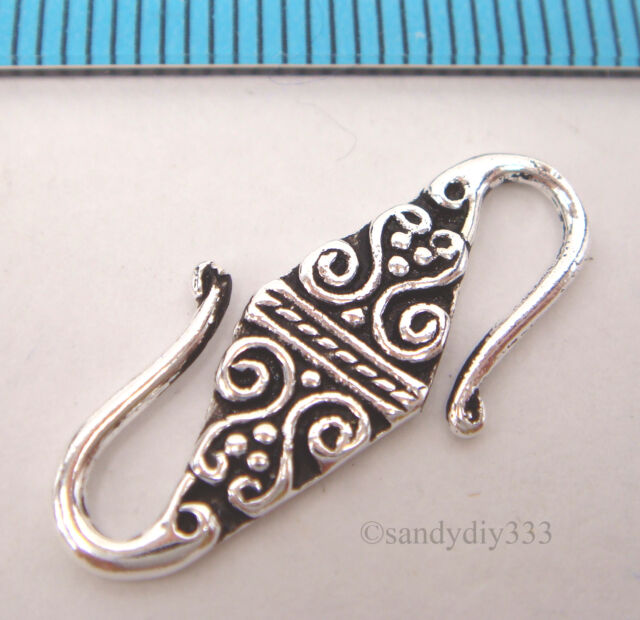 5 pcs 925 Sterling Silver S Hook Eye Clasp Jump Rings for Necklaces Bracelets Crafts Jewelry Making Findings