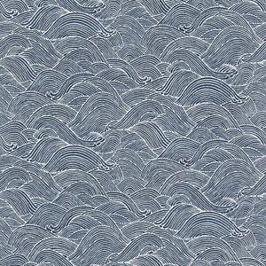 Rasch-Tapete-BARBARA-Schoneberg-527155-Onda-Azul-Blanco-Papel-pintado-fieltro