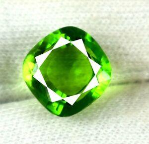 Olive Green Peridot 7.40 Ct Pakistan Gemstone Natural Cushion Certified V2329