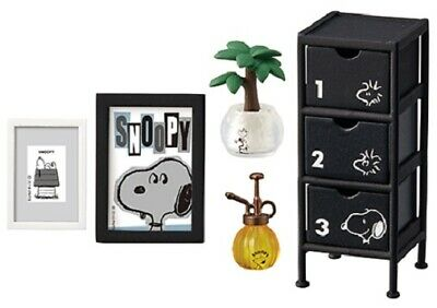 Re-Ment Miniature Peanuts Snoopy Mono Room Furniture Set # 4 FAVORITE CHEST