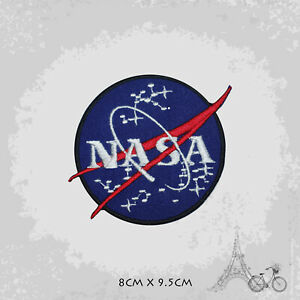 Nasa USA Logo Patch Iron On Patch Sew On Embroidered Patch