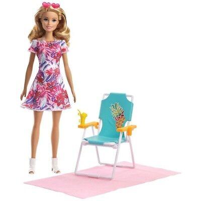 Affidabile Bambola Barbie Bionda E Accessori Da Spiaggia Set-mostra Il Titolo Originale