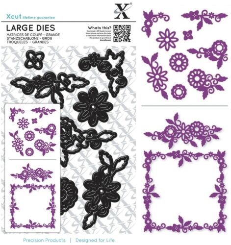 NEW UNIVERSAL FIT DOCRAFTS XCUT LARGE DIES FLORAL FRAME CUTTING DIE