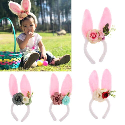 Bunny Rabbit Ears Hairbands Headband for Easter Party Favor Costume Decoration