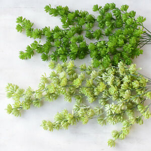 Kuenstlich-Sukkulenten-Rebe-Haengend-Pflanze-Kuenstlich-Gruen-Faux-Dekor-Lebhaft-Hot