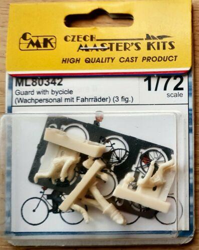 Cmk Tcheco Masters guardas com resina de escala 1//72 Bicicletas Boneco Kit ML80342