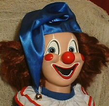 "HAUNTED Clown doll ""EYES FOLLOW YOU"" Creepy Halloween Poltergeist prop"