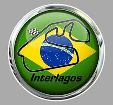 CIRCUIT D'INTERLAGOS BRESIL RACING TRACK AUTOCOLLANT STICKER 9cm IA097