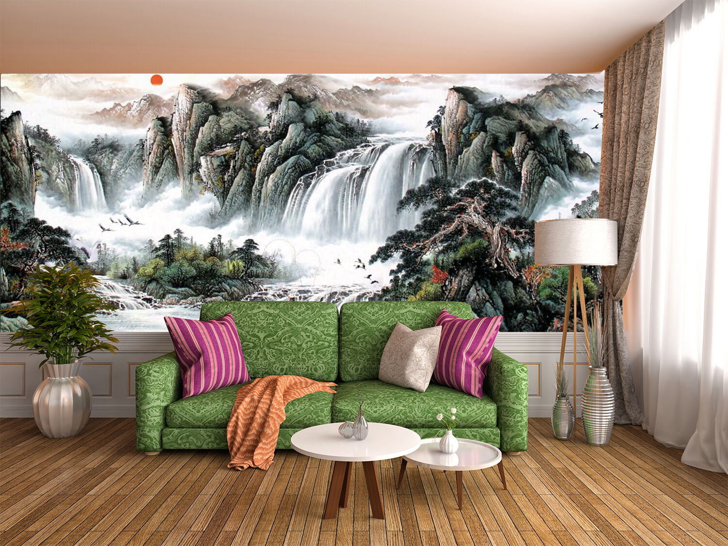 3D Magnificent Scenery 365 Wall Paper Print Decal Wall Deco Indoor wall Mural