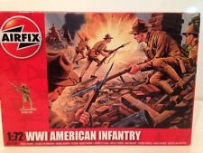 Airfix A01729 WWI American Infantry 1:72 New 48 Unpainted Pieces FREE UK POSTAGE