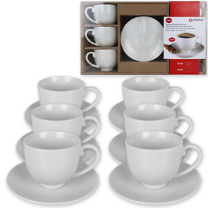 12tlg espresso tassen set kaffeetassen kaffee tasse becher unterteller wei neu ebay. Black Bedroom Furniture Sets. Home Design Ideas