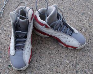 42f26bf529b3ee Nike Air Jordan 13 XIII Retro Grey Toe 414574 126 Sz 4Y Boys Youth ...