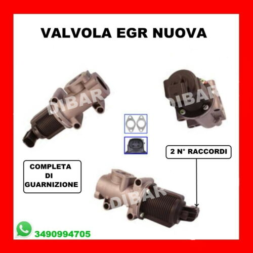 VALVOLA EGR NUOVA FIAT IDEA-MAREA-MULTIPLA-STILO DAL 1998 1.9 JTD 55182482 29