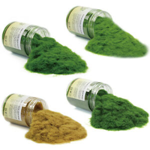 4-bottles-35g-5mm-Static-Grass-Flock-Woodland-Scenery-Terrain-Railway